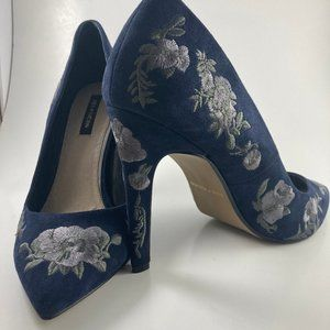 Ava & Aiden Womens Embroidered Floral Heels 8.5